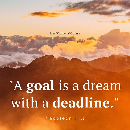 """A goal is a dream with a deadline."" Napoleon Hill"