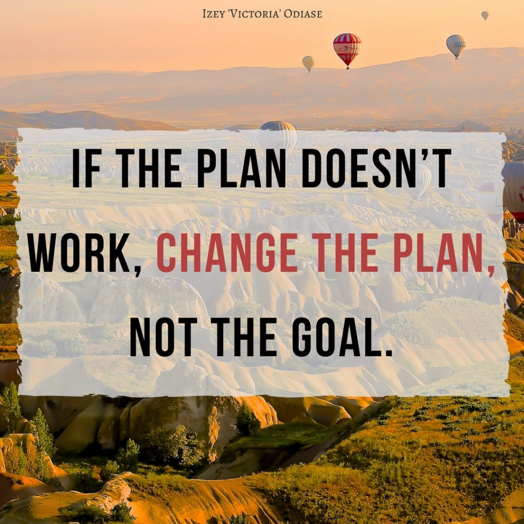 If The Plan Doesnt Work Change The Plan Not The Goal