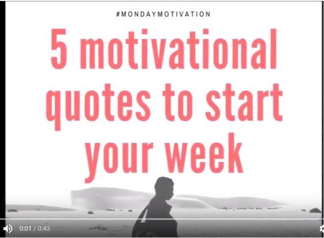 5 Motivational Quotes to Start Your Week