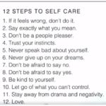 Power of Positivity 12 steps to self care